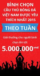 Bình chọn cầu thủ Việt Nam được yêu thích nhất năm 2015